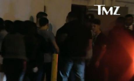 Justin Bieber Outside Miami Club