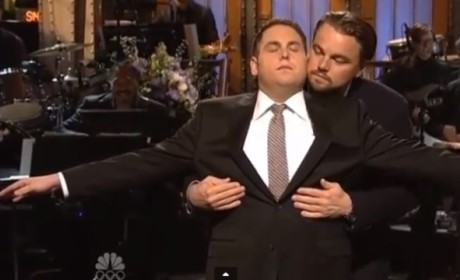 Jonah Hill and Leonardo DiCaprio Open SNL, Recreate Iconic Titanic Scene