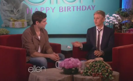 Zac Efron Serenades Ellen DeGeneres for Her Birthday