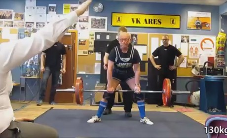 Svend Steensgaard, 91, Deadlifts 286 Pounds: Watch Now!
