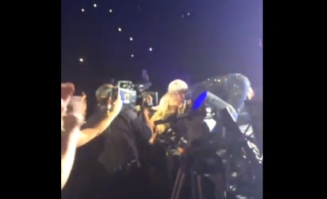 Miley Cyrus Kisses Fan