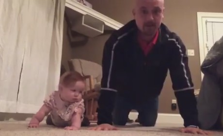 Baby and Dad Work Out!