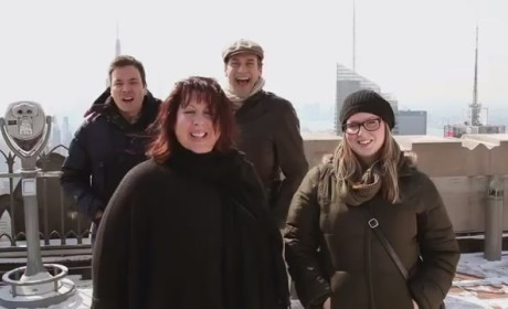 Jimmy Fallon, Jon Hamm Photobomb NYC Passersby on Tonight Show: Watch!