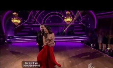 Danica McKellar & Val Chmerkovskiy - DWTS Week 1