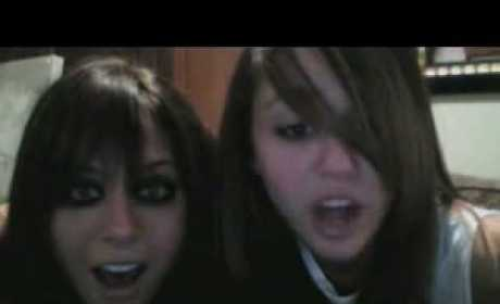 Miley Cyrus and Mandy Jiorux Mock Demi and Selena