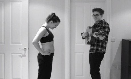 Husband Serenades Pregnant Wife, Time Lapse Style