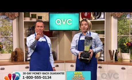 Arnold Schwarzenegger and Jimmy Fallon Spoof QVC with Movie Lines