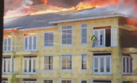 Firefighter Rescues Construction Worker