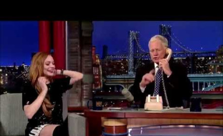 Lindsay Lohan, David Letterman Prank Call Oprah on Late Show: Watch!
