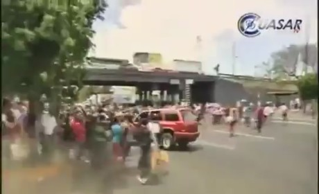 SUV Mows Down Mexican Protesters in Insane, Graphic Video