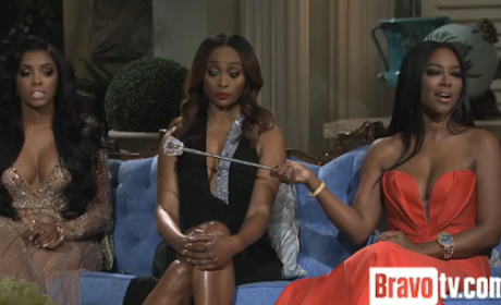 The Real Housewives of Atlanta Clip: Kenya Moore Grilled on Fake African Prince Boyfriend
