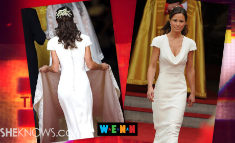 "Pippa Middleton Accused of ""False Bottom,"" Butt Padding Inside Famous Royal Wedding Dress"