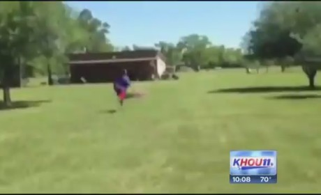 High Schooler Catches Own 40-Yard Pass