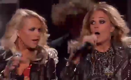 "Miranda Lambert, Carrie Underwood Bring ""Something Bad"" to Billboard Music Awards"