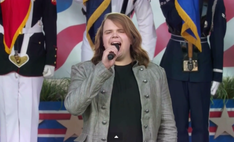 Caleb Johnson Performs National Anthem on Capitol Hill