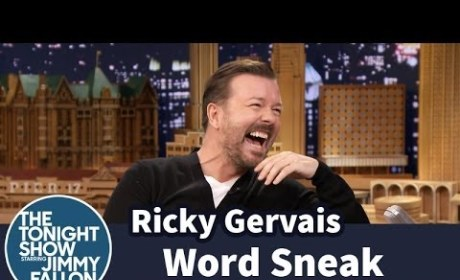 Ricky Gervais vs. Jimmy Fallon: Funniest Edition of Word Sneak EVER!