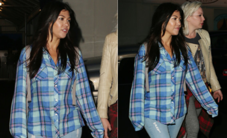 Kourtney Kardashian Pictures: Is There a Baby Bump?!?