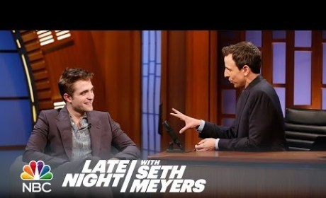 Robert Pattinson on Late Night