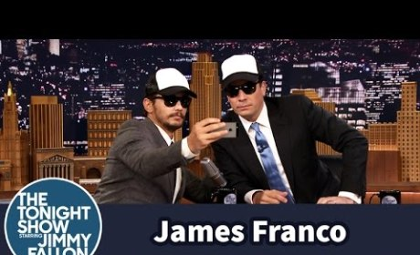 James Franco Teaches Jimmy Fallon How to Take a Selfie