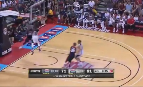 Paul George Breaks Leg