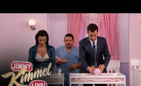 Kim Kardashian and Jimmy Kimmel Change Diapers