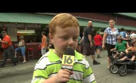 Awesome 5-Year Old Loves Amusement Park Ride, Should Be Hired as Reporter