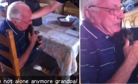 Grandfather Loses Wife of 63 Years, Bawls Over Gift of a Puppy