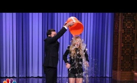 Jimmy Fallon Douses Lindsay Lohan with Cold Water