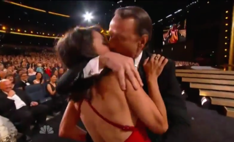 Bryan Cranston Makes Out with Julia Louis-Dreyfus