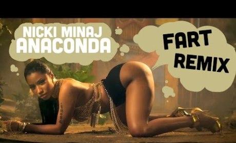 "Nicki Minaj ""Anaconda"" Video: Now Full of Farts!"