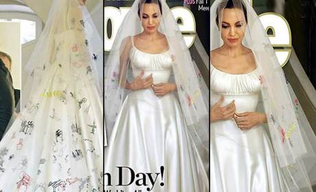 Angelina Jolie Wedding Dress: Beautiful!