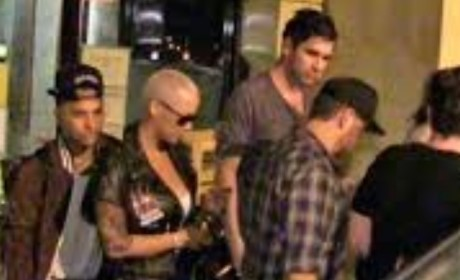Nick Simmons and Amber Rose