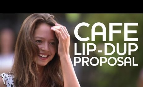 Amazing Boyfriend Proposes Via Amazing Cafe Lip-Dub: It's Amazing!
