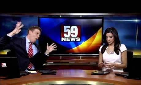 """Anchor Rocks Out to """"Shake It Off,"""" Elicits Zero Reaction from Unamused Colleague"""