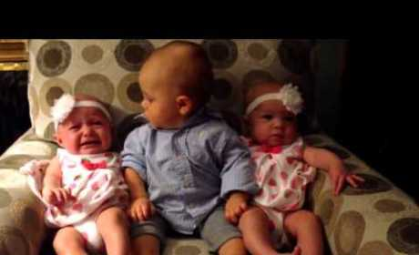 Baby Boy Seriously Confused by Twins