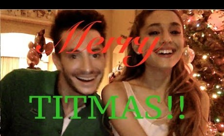 "Ariana Grande Wishes You a Merry ""Titmas"" in Hilarious Holiday Video!"
