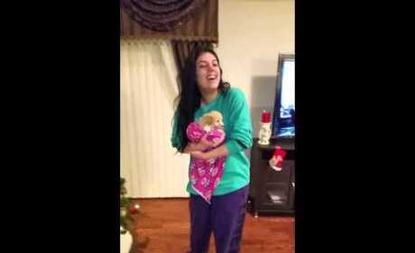 Girl Opens Surprise Christmas Box, Reacts Just Like You Would
