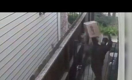 UPS Driver Throws Package, Urinates On House