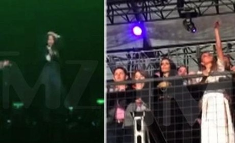 Kim Kardashian Lip Syncing at Super Bowl Party