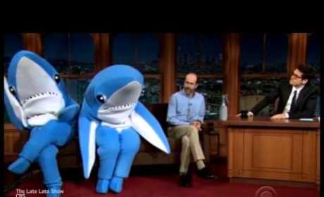 John Mayer Interviews Katy Perry's Super Bowl Sharks! Watch the Hilarious Video Now!