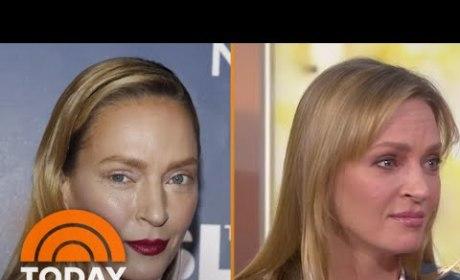 Uma Thurman Talks Makeup Mishap