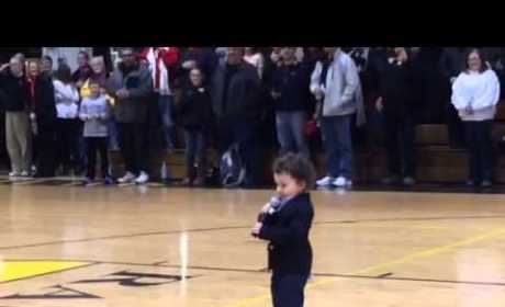2-Year Old Sings National Anthem, Internet Collectively Melts