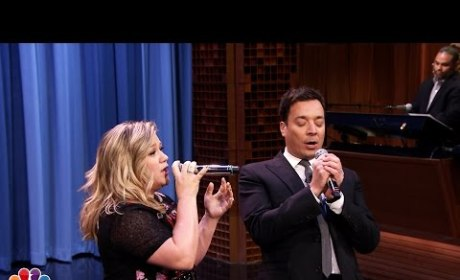 Kelly Clarkson and Jimmy Fallon Sing Duets