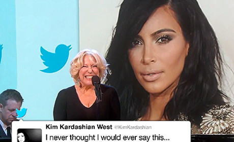 Bette Midler Belts Our Kim Kardashian's Best/Worst Tweets on Jimmy Kimmel Live