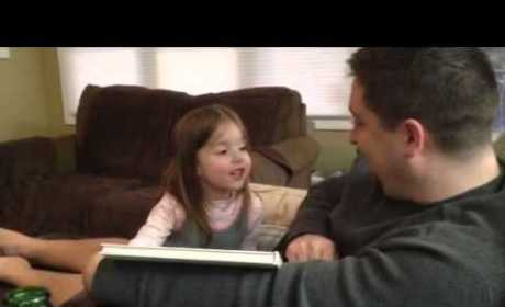 Little Girl Learns She'll Be a Big Sister, Farts