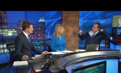 Meteorologist Finds Hanger in His Suit
