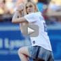 Elle Fanning Throws Out First Pitch, Shames 50 Cent With Perfect Strike