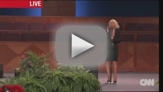 "Christina Aguilera Covers ""At Last"" at Etta James Funeral ... Christina Aguilera Obituary"