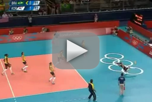 Brazil Volleyball Kick Save: The Best Play of the 2012 ...