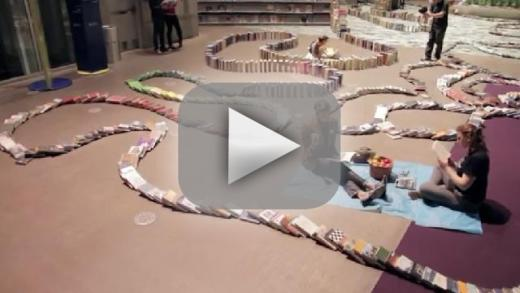 Domino Book Chain Collapse Sets World Record